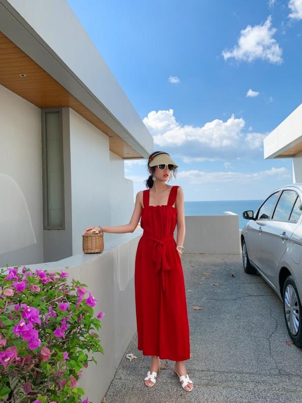 韓国 ファッション オールインワン サロペット 春 夏 リゾート パーティー PTXH882  キュート ワイド クロップド オーバーオール セレブ セクシーの写真4枚目