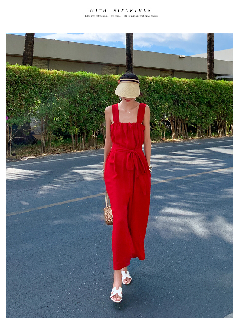 韓国 ファッション オールインワン サロペット 春 夏 リゾート パーティー PTXH882  キュート ワイド クロップド オーバーオール セレブ セクシーの写真7枚目