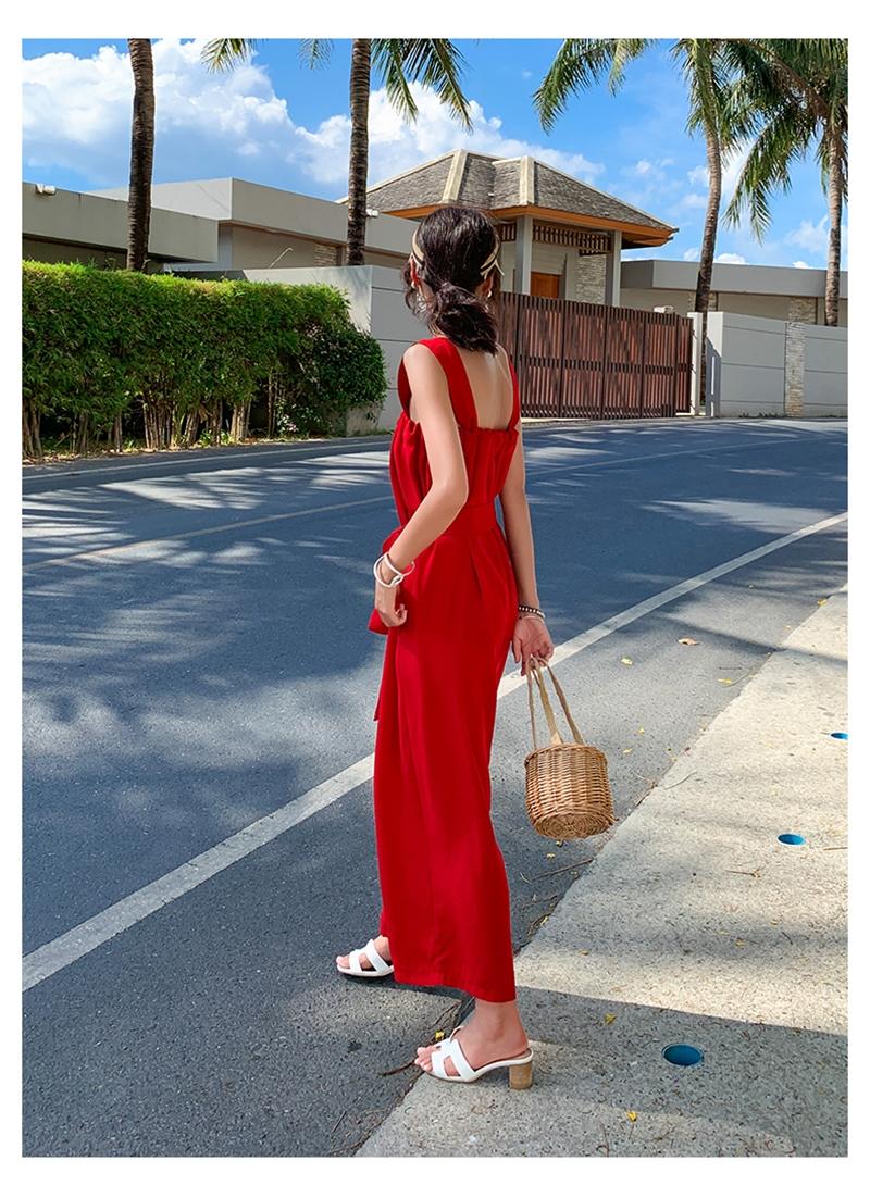 韓国 ファッション オールインワン サロペット 春 夏 リゾート パーティー PTXH882  キュート ワイド クロップド オーバーオール セレブ セクシーの写真8枚目