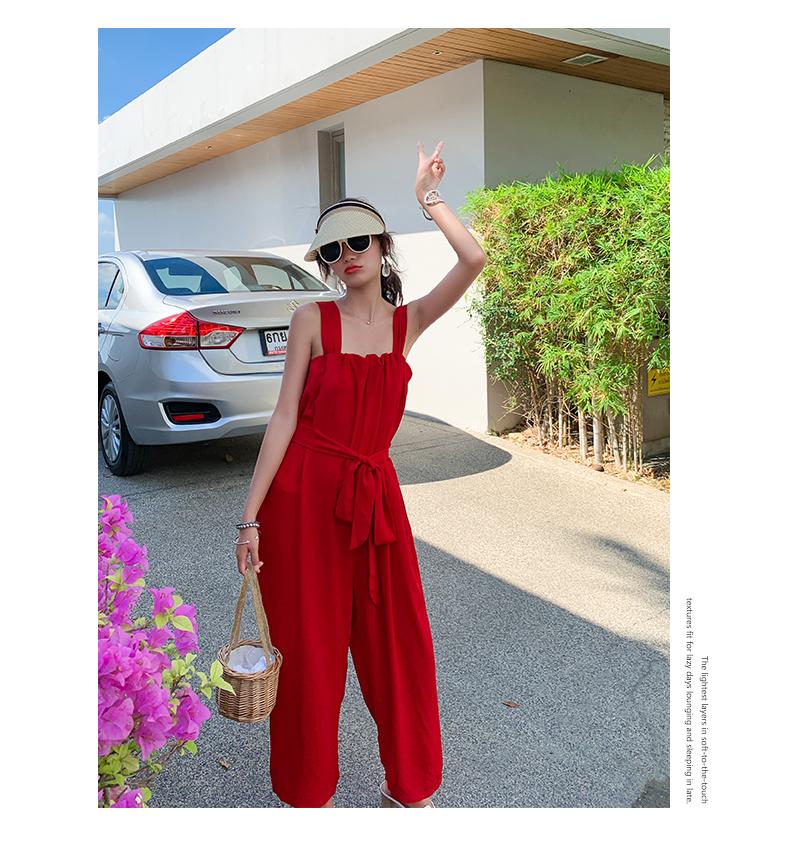韓国 ファッション オールインワン サロペット 春 夏 リゾート パーティー PTXH882  キュート ワイド クロップド オーバーオール セレブ セクシーの写真13枚目