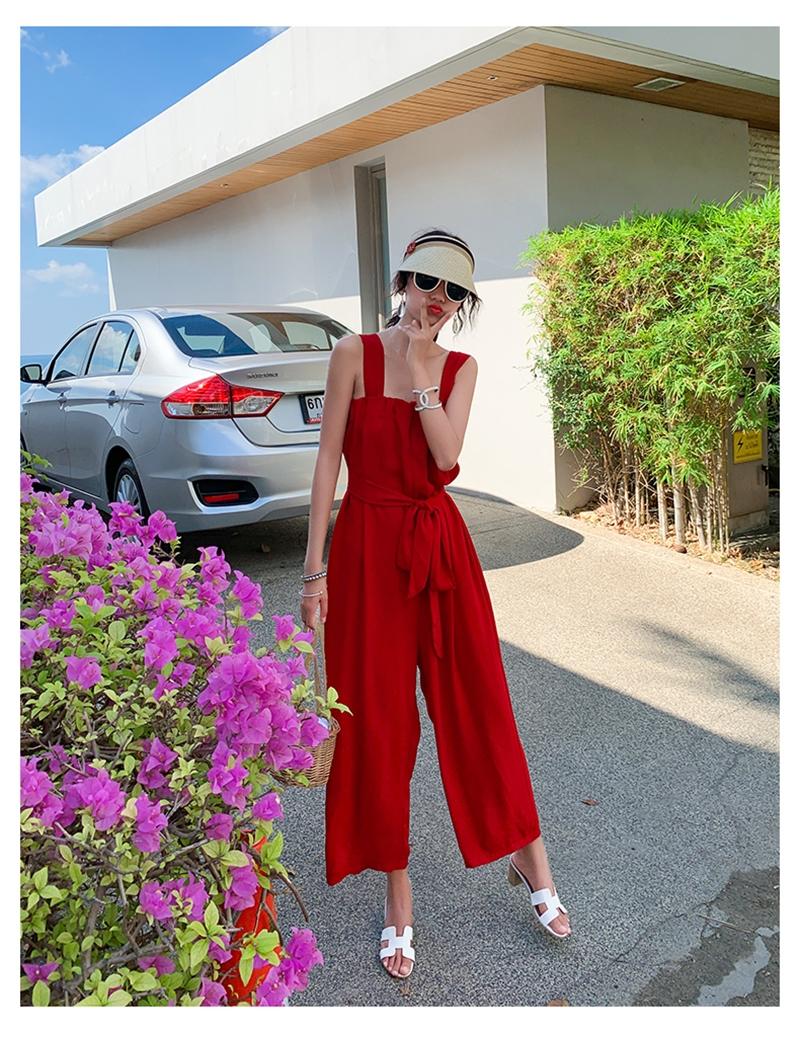 韓国 ファッション オールインワン サロペット 春 夏 リゾート パーティー PTXH882  キュート ワイド クロップド オーバーオール セレブ セクシーの写真14枚目
