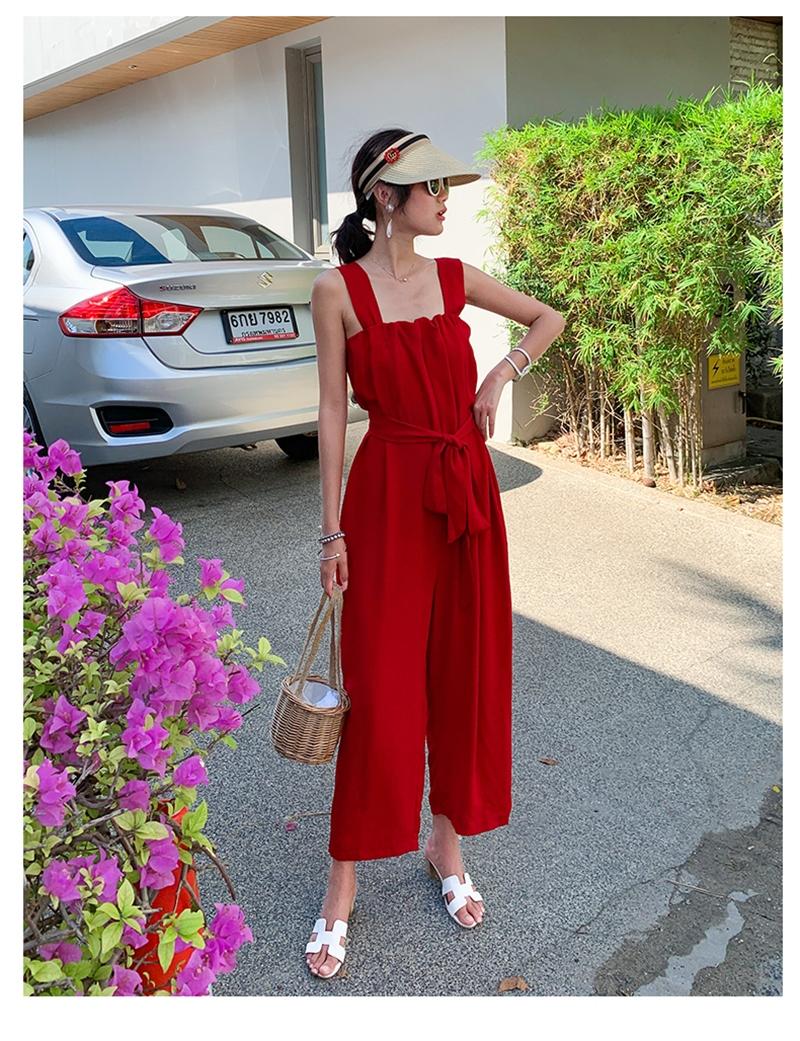 韓国 ファッション オールインワン サロペット 春 夏 リゾート パーティー PTXH882  キュート ワイド クロップド オーバーオール セレブ セクシーの写真16枚目