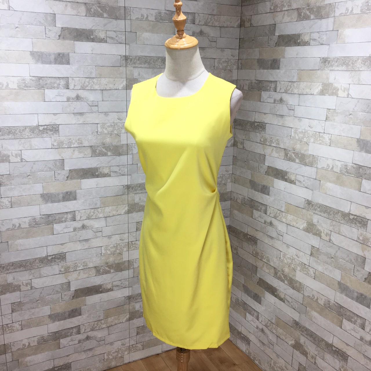 韓国 ファッション ワンピース パーティードレス ショート ミニ丈 夏 春 パーティー ブライダル PTXH937 結婚式 お呼ばれ キレイ色 ベーシックデザイン 着回し シ 二次会 セレブ きれいめの写真6枚目