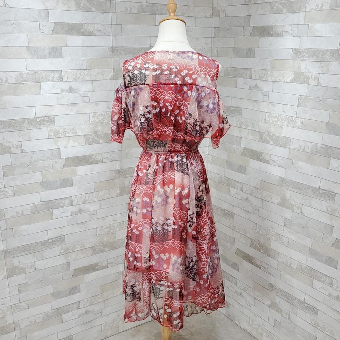 韓国 ファッション ワンピース 春 夏 カジュアル PTXH964  シアー オフショルダー風 フレアトップ 肩見せ オルチャン シンプル 定番 セレカジの写真3枚目