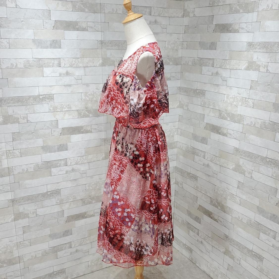 韓国 ファッション ワンピース 春 夏 カジュアル PTXH964  シアー オフショルダー風 フレアトップ 肩見せ オルチャン シンプル 定番 セレカジの写真5枚目