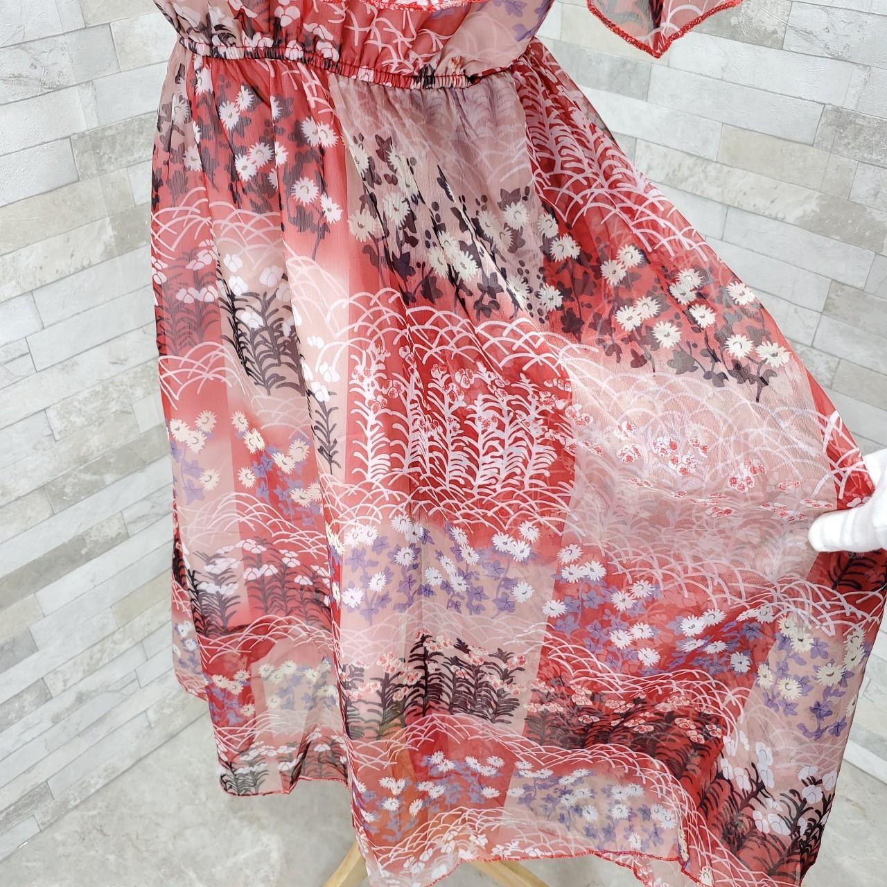 韓国 ファッション ワンピース 春 夏 カジュアル PTXH964  シアー オフショルダー風 フレアトップ 肩見せ オルチャン シンプル 定番 セレカジの写真10枚目