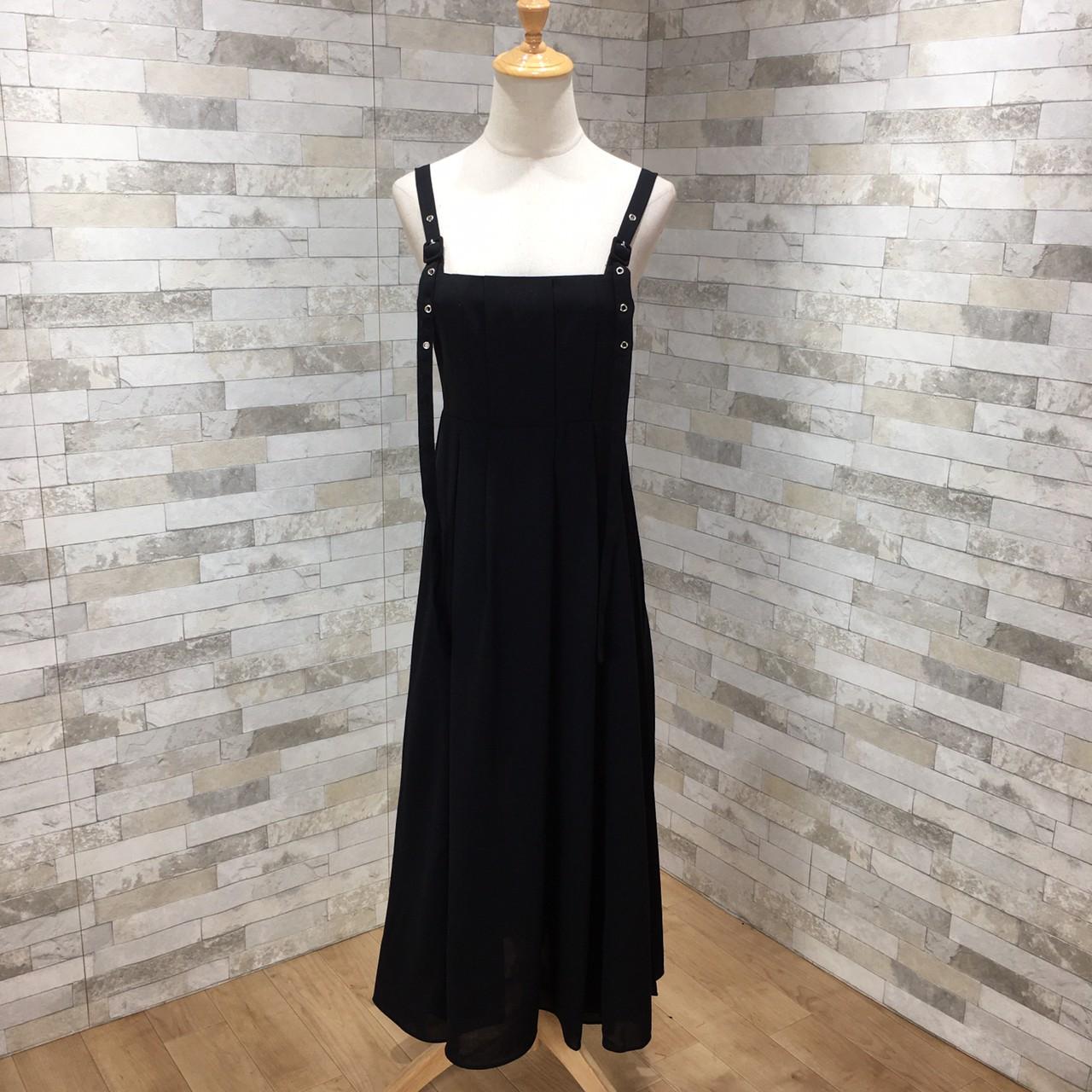 韓国 ファッション ワンピース 春 夏 秋 カジュアル PTXI015  タック ドレープ ジャンパースカート 着回し オルチャン シンプル 定番 セレカジの写真9枚目
