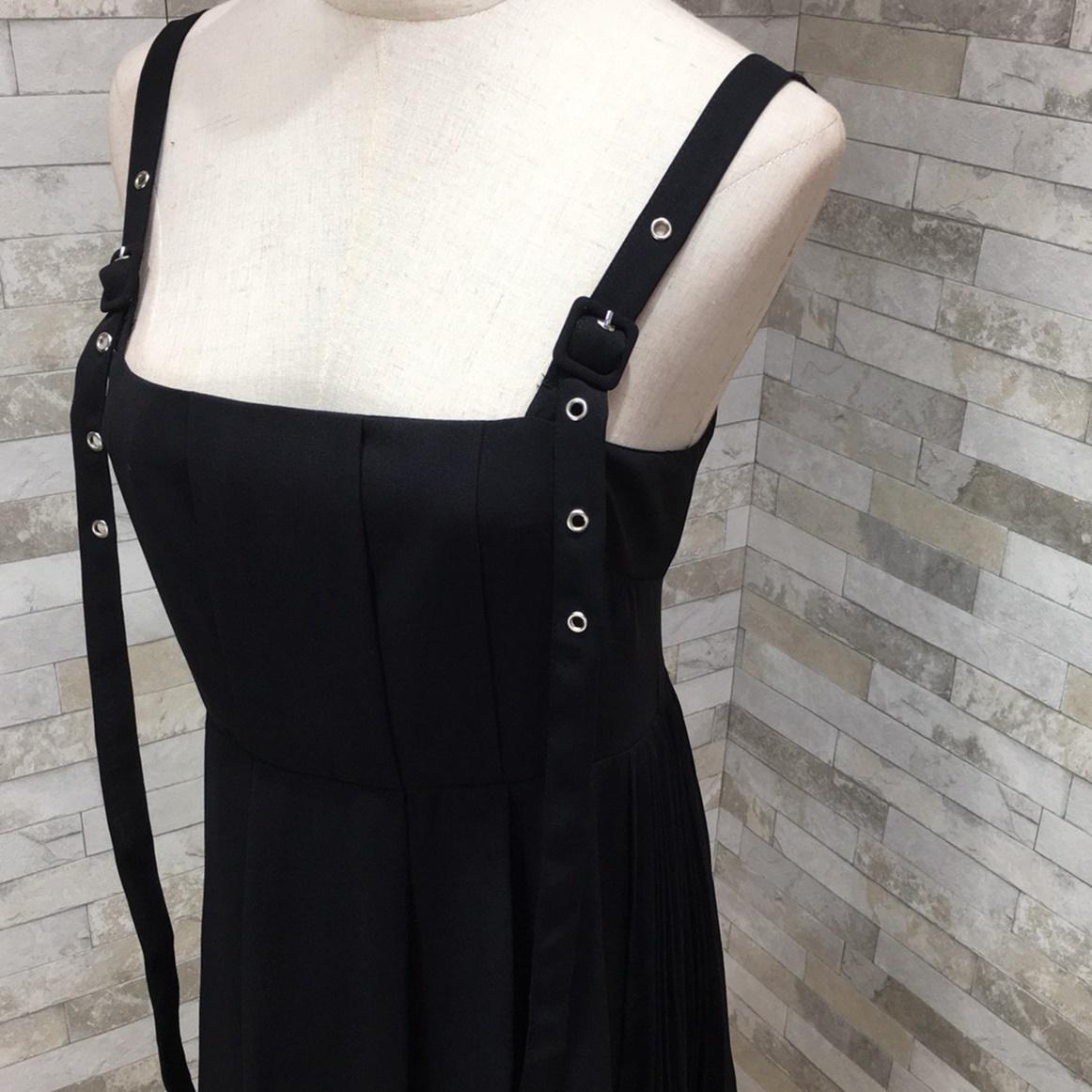 韓国 ファッション ワンピース 春 夏 秋 カジュアル PTXI015  タック ドレープ ジャンパースカート 着回し オルチャン シンプル 定番 セレカジの写真14枚目