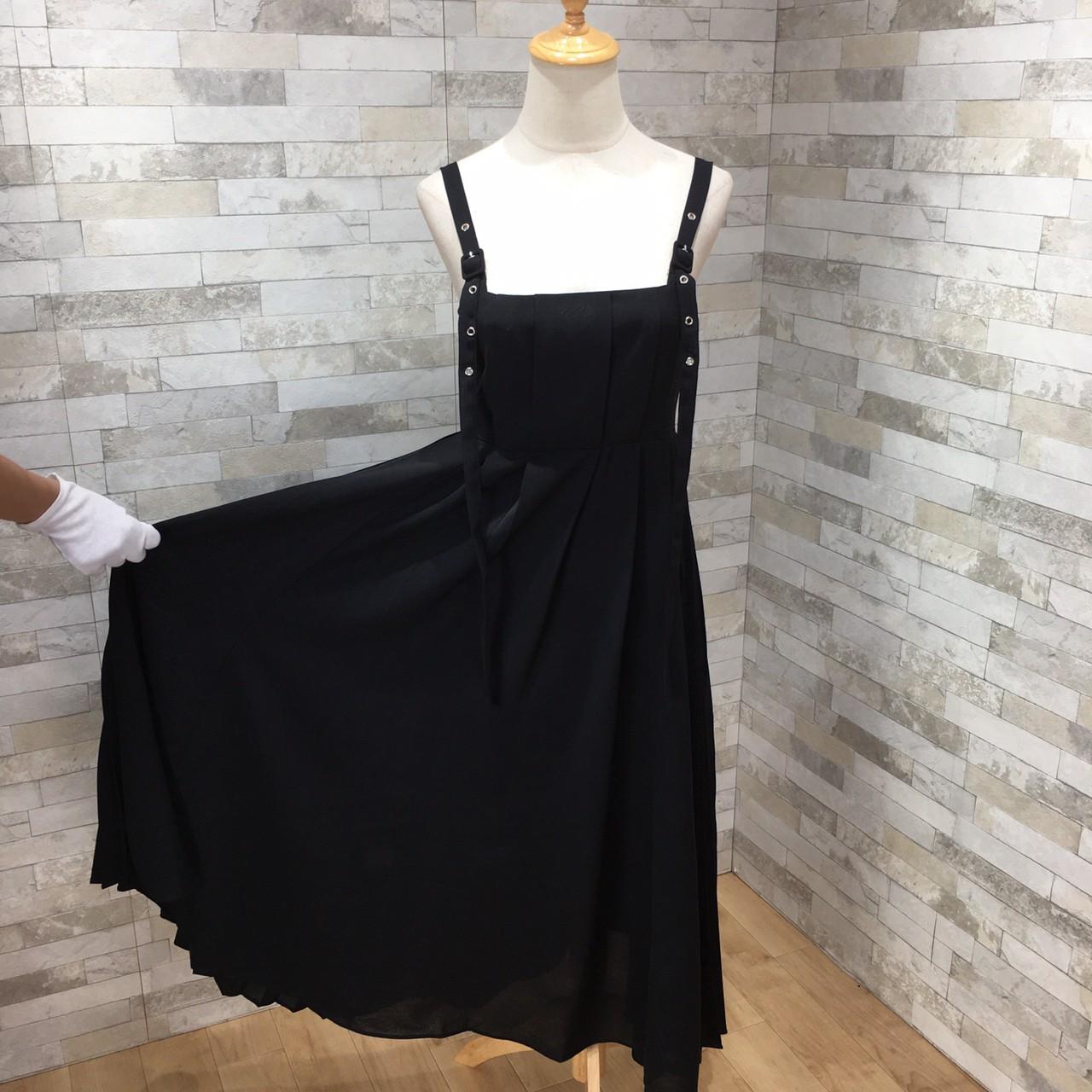 韓国 ファッション ワンピース 春 夏 秋 カジュアル PTXI015  タック ドレープ ジャンパースカート 着回し オルチャン シンプル 定番 セレカジの写真17枚目