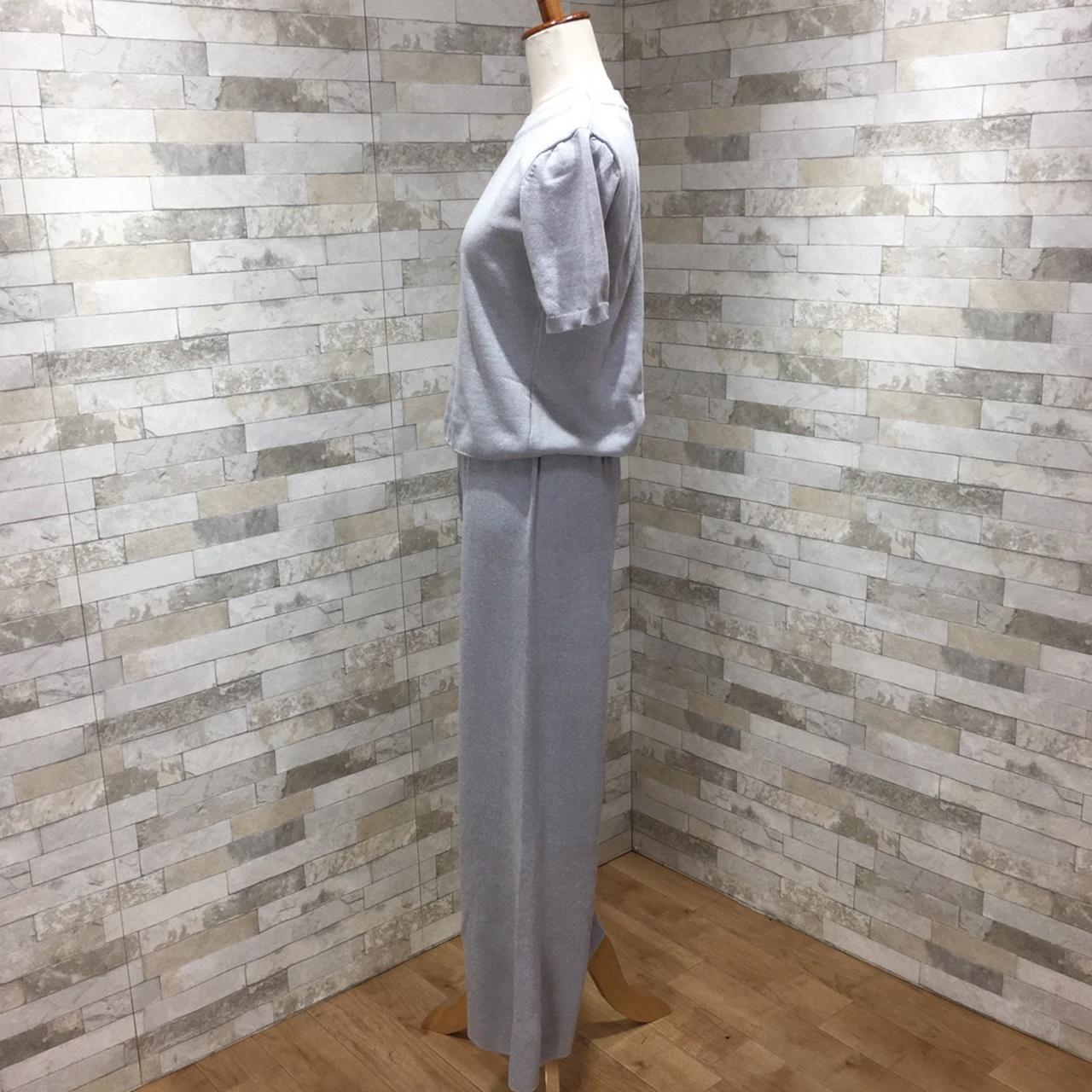 韓国 ファッション セットアップ 春 夏 秋 カジュアル PTXI116  光沢 ラフ リブニット ワイドストレートパンツ オルチャン シンプル 定番 セレカジの写真12枚目