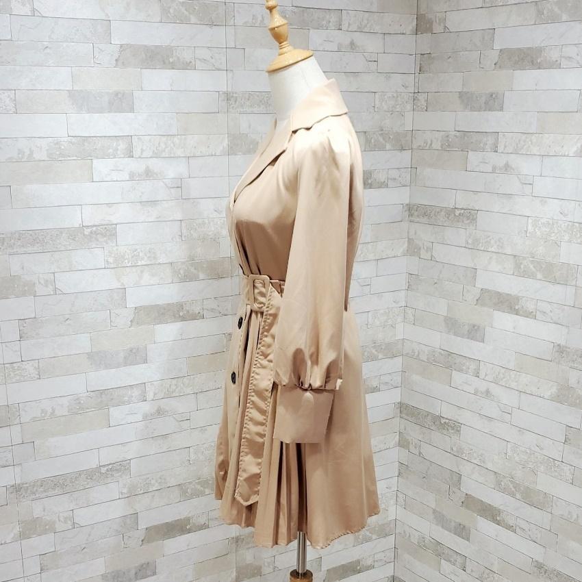 韓国 ファッション ワンピース 春 夏 秋 カジュアル PTXI130  プリーツ Aライン パフスリーブ ロングカフス オルチャン シンプル 定番 セレカジの写真8枚目