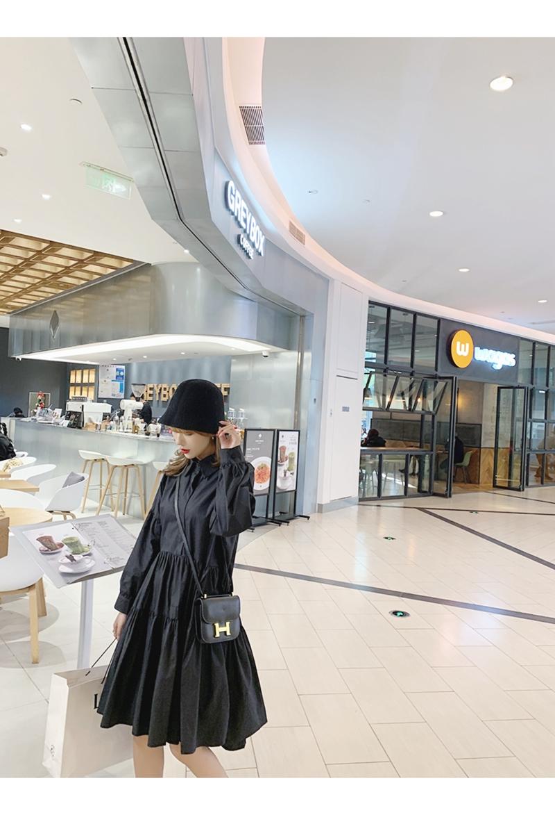 【即納】韓国 ファッション ワンピース 春 夏 秋 カジュアル SPTXI149  ティアード ドレープ ギャザー ゆったり オルチャン シンプル 定番 セレカジの写真6枚目