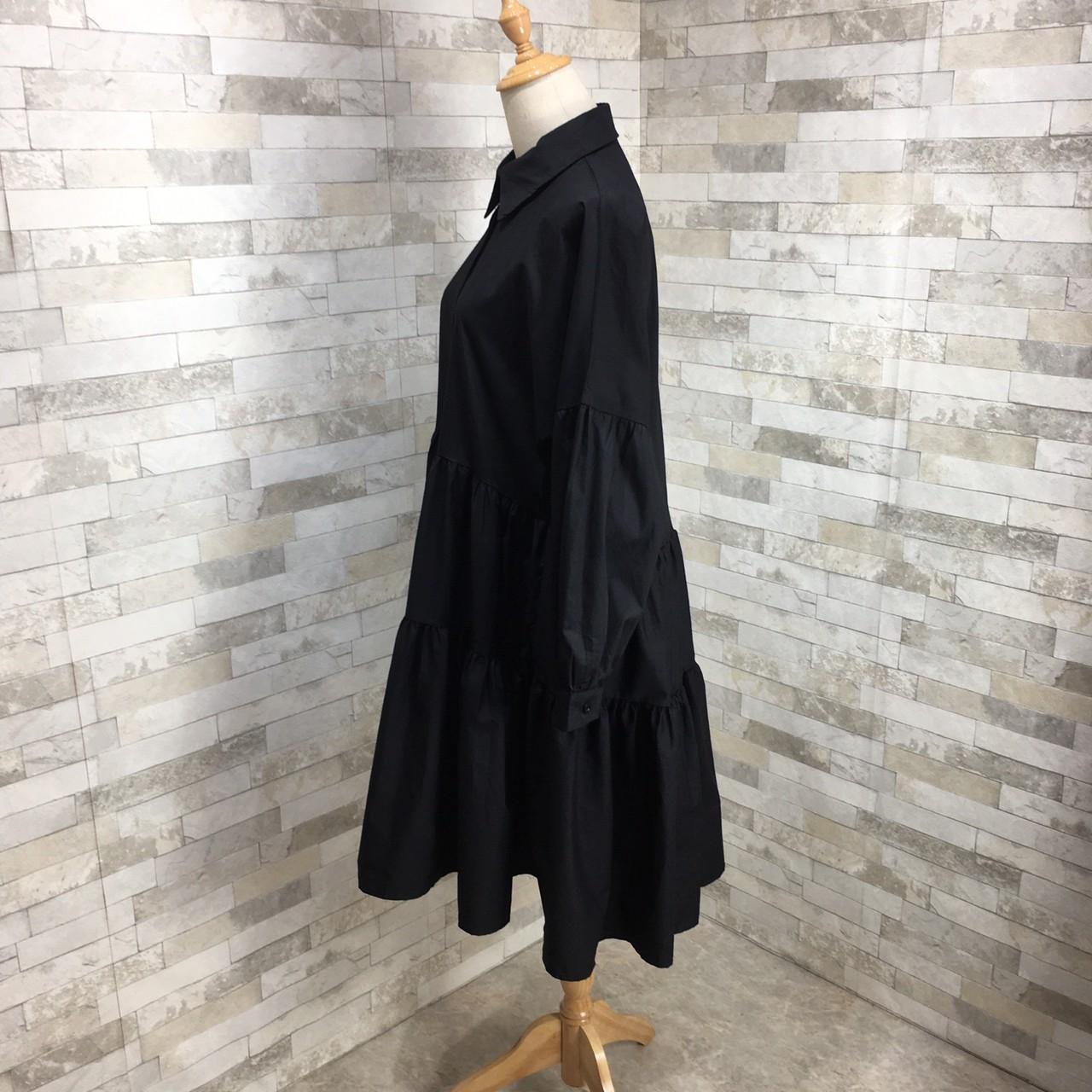 【即納】韓国 ファッション ワンピース 春 夏 秋 カジュアル SPTXI149  ティアード ドレープ ギャザー ゆったり オルチャン シンプル 定番 セレカジの写真12枚目
