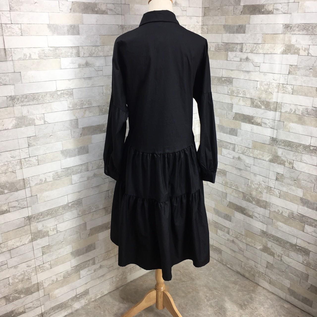 【即納】韓国 ファッション ワンピース 春 夏 秋 カジュアル SPTXI149  ティアード ドレープ ギャザー ゆったり オルチャン シンプル 定番 セレカジの写真13枚目