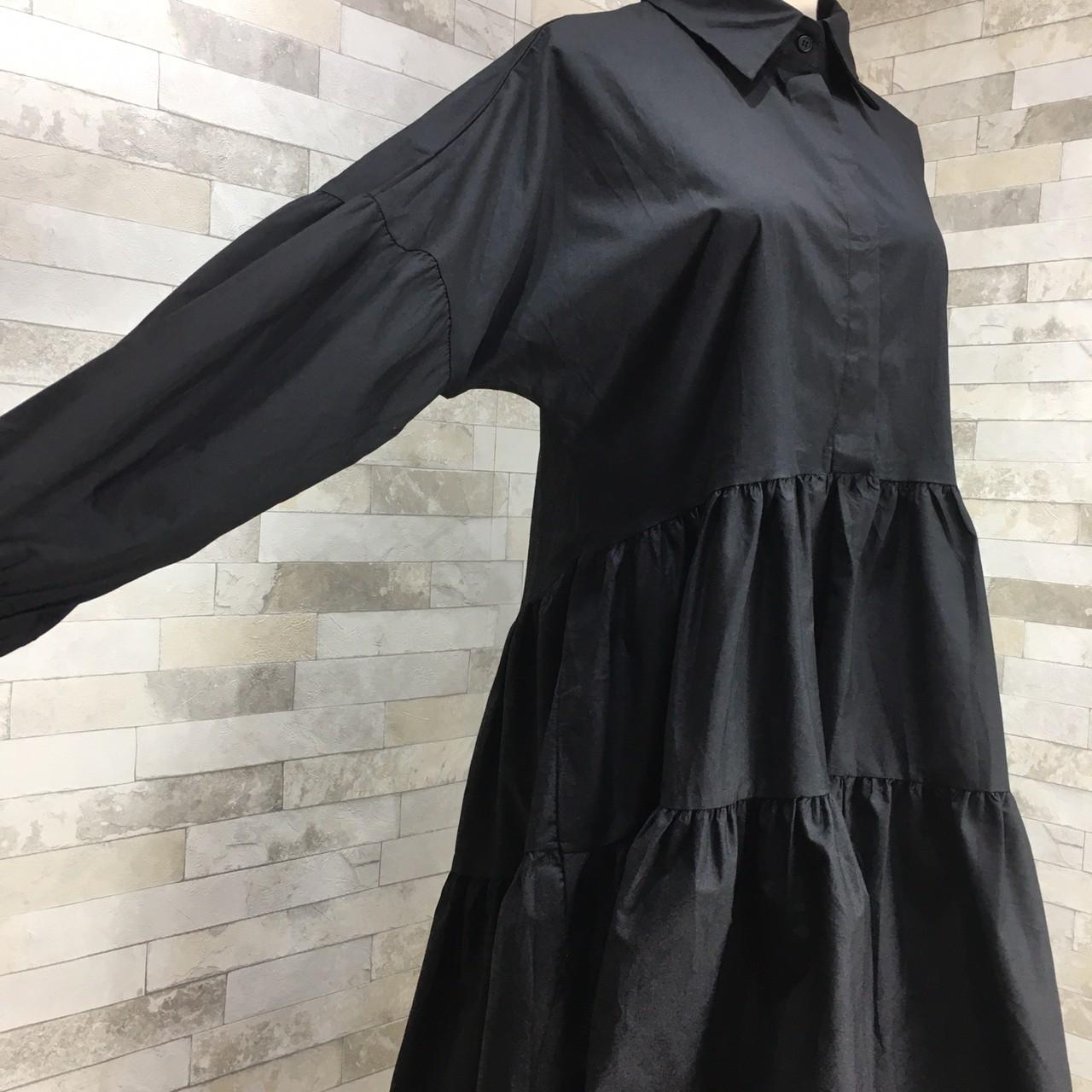 【即納】韓国 ファッション ワンピース 春 夏 秋 カジュアル SPTXI149  ティアード ドレープ ギャザー ゆったり オルチャン シンプル 定番 セレカジの写真17枚目