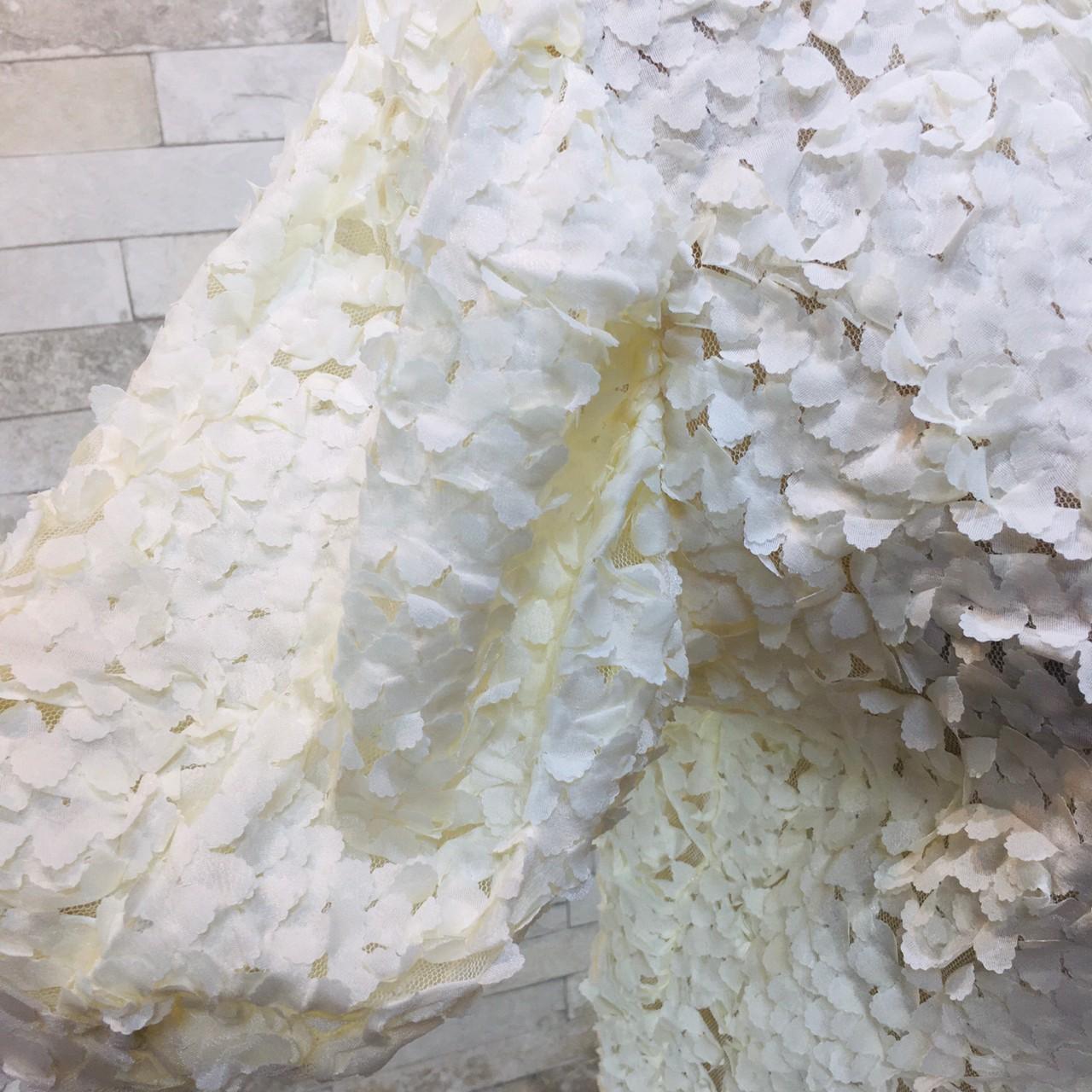 韓国 ファッション トップス カーディガン 春 夏 秋 カジュアル PTXI236  立体レース シースルー パフスリーブ 羽織り オルチャン シンプル 定番 セレカジの写真13枚目