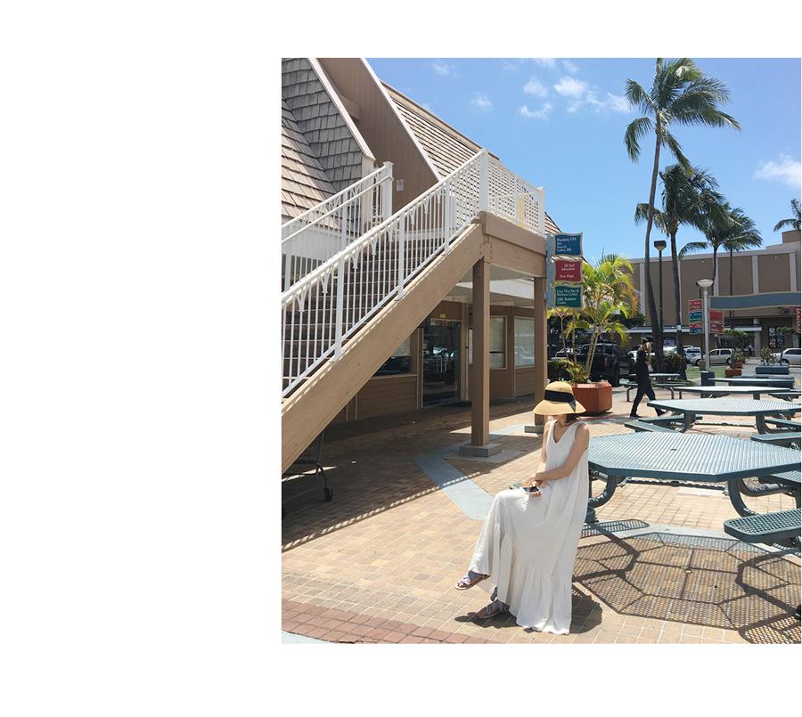リゾートワンピース ロング マキシ ハワイ お出かけワンピ 夏 春 リゾート パーティー PTXI256  バックリボン 背中見せ マキシ丈 ギャザー セレブ セクシーの写真9枚目
