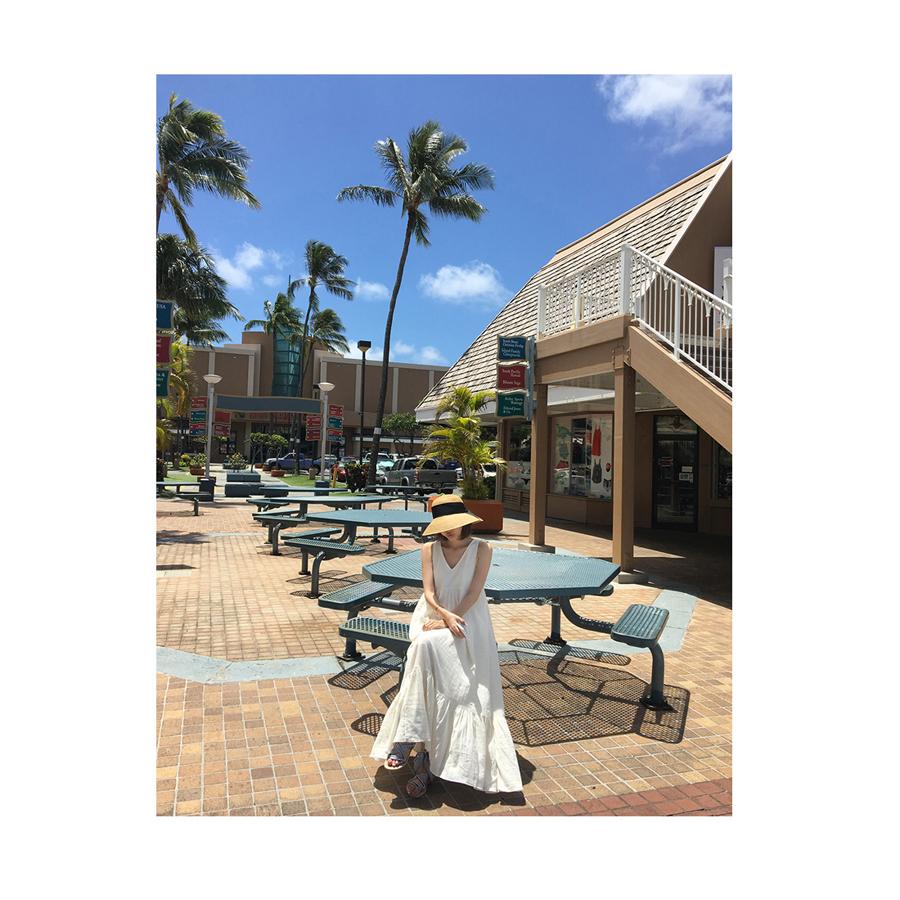 リゾートワンピース ロング マキシ ハワイ お出かけワンピ 夏 春 リゾート パーティー PTXI256  バックリボン 背中見せ マキシ丈 ギャザー セレブ セクシーの写真14枚目