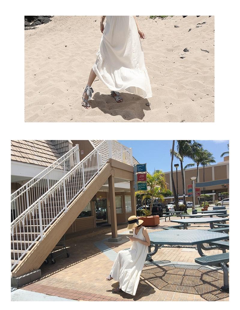 リゾートワンピース ロング マキシ ハワイ お出かけワンピ 夏 春 リゾート パーティー PTXI256  バックリボン 背中見せ マキシ丈 ギャザー セレブ セクシーの写真19枚目