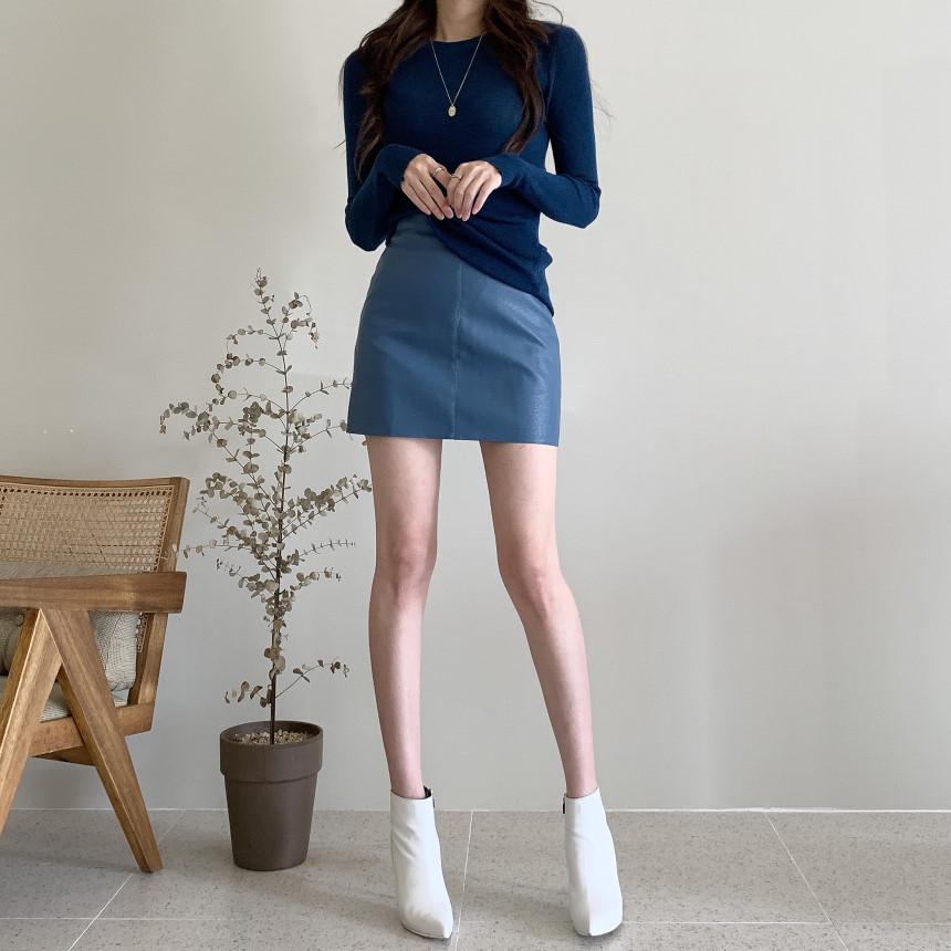 韓国 ファッション トップス ニット セーター 春 夏 秋 カジュアル PTXI258  シアー 薄手 リブニット ジャケットインナー オルチャン シンプル 定番 セレカジの写真6枚目