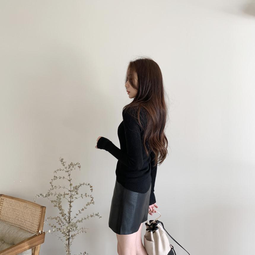 韓国 ファッション トップス ニット セーター 春 夏 秋 カジュアル PTXI258  シアー 薄手 リブニット ジャケットインナー オルチャン シンプル 定番 セレカジの写真8枚目