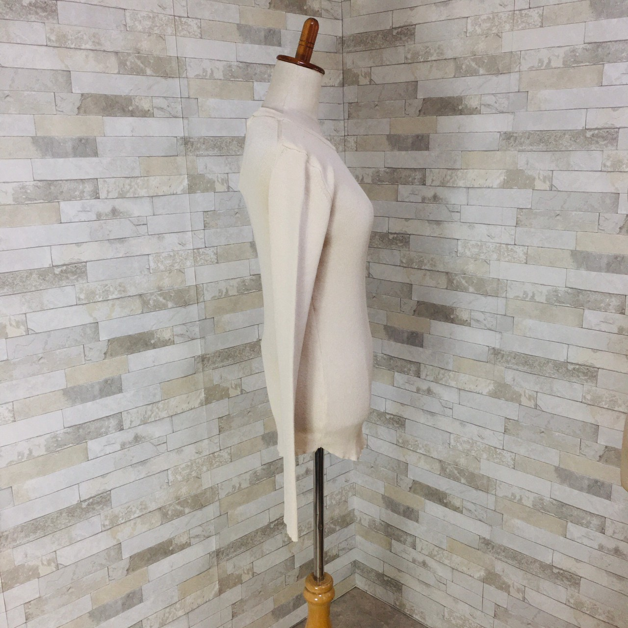 韓国 ファッション トップス ニット セーター 春 夏 秋 カジュアル PTXI258  シアー 薄手 リブニット ジャケットインナー オルチャン シンプル 定番 セレカジの写真18枚目