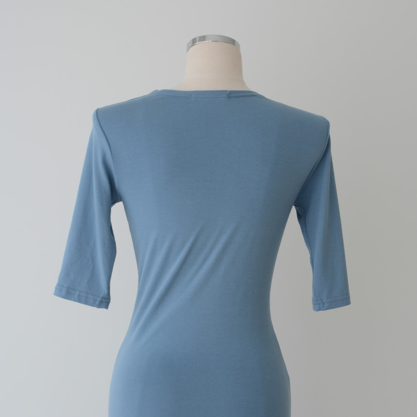 韓国 ファッション ワンピース 夏 春 カジュアル PTXI268  カシュクール センシュアル ツイスト Vネック オルチャン シンプル 定番 セレカジの写真17枚目