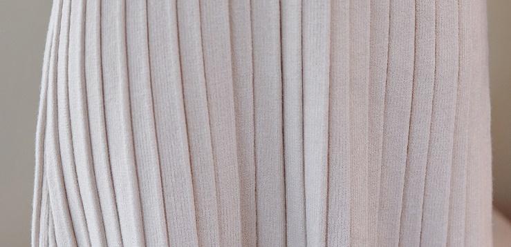 韓国 ファッション ワンピース パーティードレス ひざ丈 ミディアム 秋 冬 春 パーティー ブライダル PTXI291 結婚式 お呼ばれ プリーツ風 リブニットワンピース  二次会 セレブ きれいめの写真16枚目