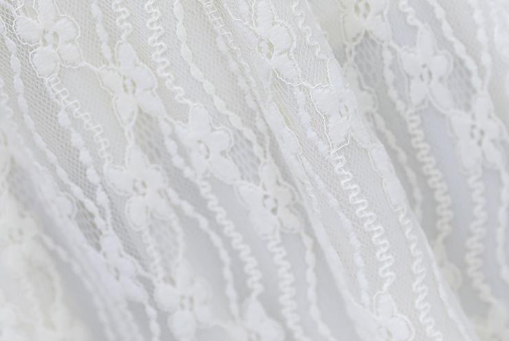 韓国 ファッション ワンピース パーティードレス ひざ丈 ミディアム 夏 春 秋 パーティー ブライダル PTXI299 結婚式 お呼ばれ シースルー スタンドカラー レトロ 二次会 セレブ きれいめの写真20枚目
