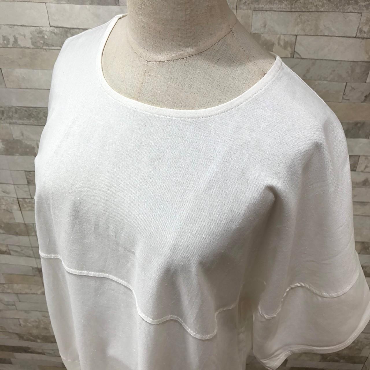 韓国 ファッション ワンピース 春 夏 カジュアル PTXI416  袖コンシャス ゆったり 体型カバー ラフ オルチャン シンプル 定番 セレカジの写真3枚目