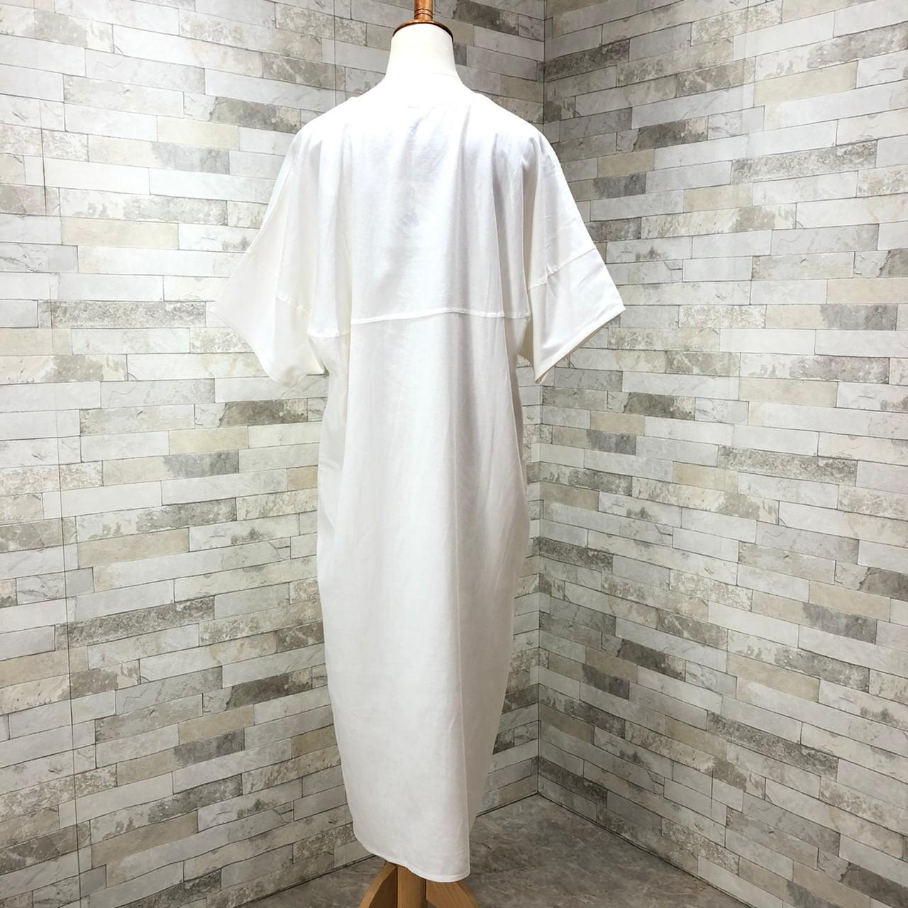 韓国 ファッション ワンピース 春 夏 カジュアル PTXI416  袖コンシャス ゆったり 体型カバー ラフ オルチャン シンプル 定番 セレカジの写真4枚目