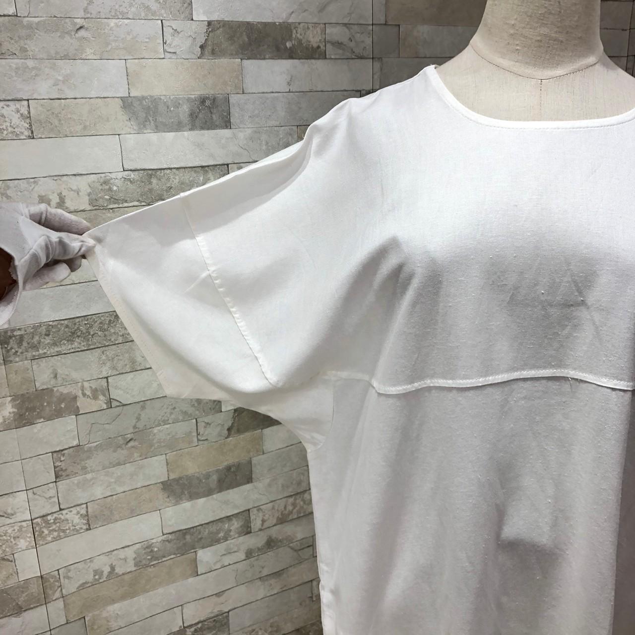 韓国 ファッション ワンピース 夏 春 カジュアル PTXI416  袖コンシャス ゆったり 体型カバー ラフ オルチャン シンプル 定番 セレカジの写真6枚目