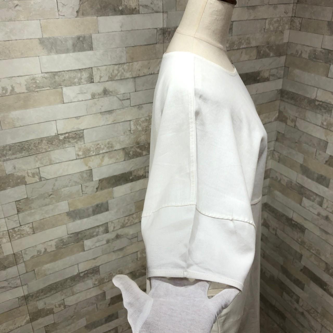 韓国 ファッション ワンピース 春 夏 カジュアル PTXI416  袖コンシャス ゆったり 体型カバー ラフ オルチャン シンプル 定番 セレカジの写真7枚目