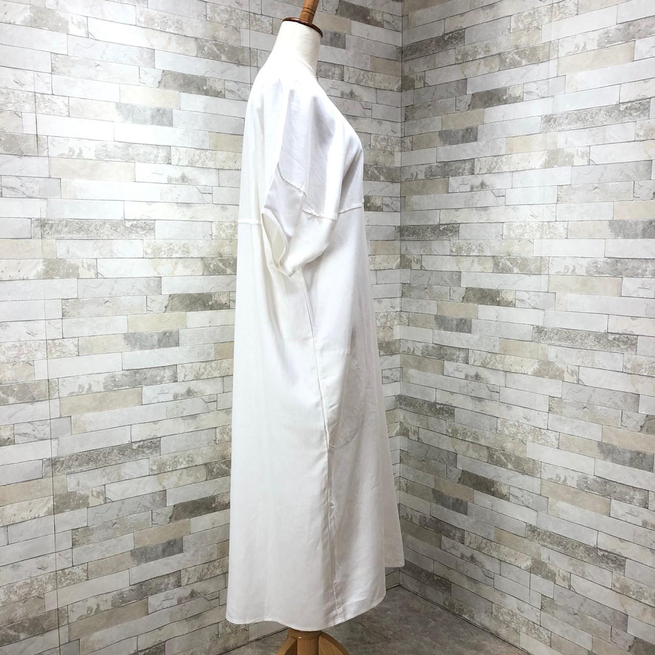 韓国 ファッション ワンピース 春 夏 カジュアル PTXI416  袖コンシャス ゆったり 体型カバー ラフ オルチャン シンプル 定番 セレカジの写真10枚目