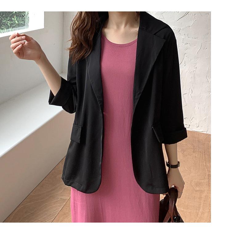 韓国 ファッション ワンピース 夏 春 カジュアル PTXI455  ゆったり リラクシー プレーン ニットワンピ オルチャン シンプル 定番 セレカジの写真16枚目
