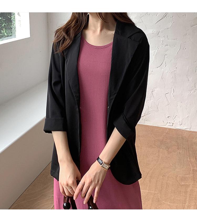 韓国 ファッション ワンピース 夏 春 カジュアル PTXI455  ゆったり リラクシー プレーン ニットワンピ オルチャン シンプル 定番 セレカジの写真20枚目