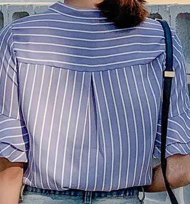 韓国 ファッション トップス ブラウス シャツ 春 夏 秋 カジュアル PTXI498  バンドカラー風 ボウタイ ペールカラー オルチャン シンプル 定番 セレカジの写真19枚目