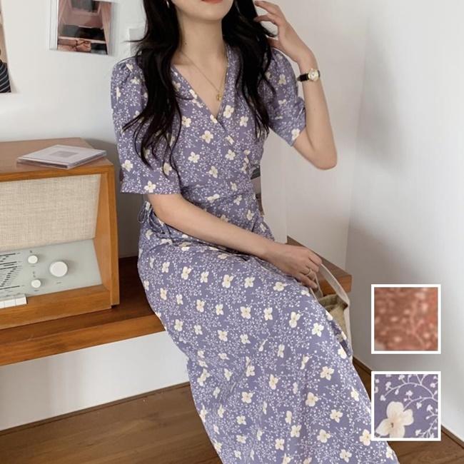 韓国 ファッション ワンピース 夏 春 秋 カジュアル PTXI526  くすみカラー ゆったり Aライン リラクシー オルチャン シンプル 定番 セレカジの写真1枚目