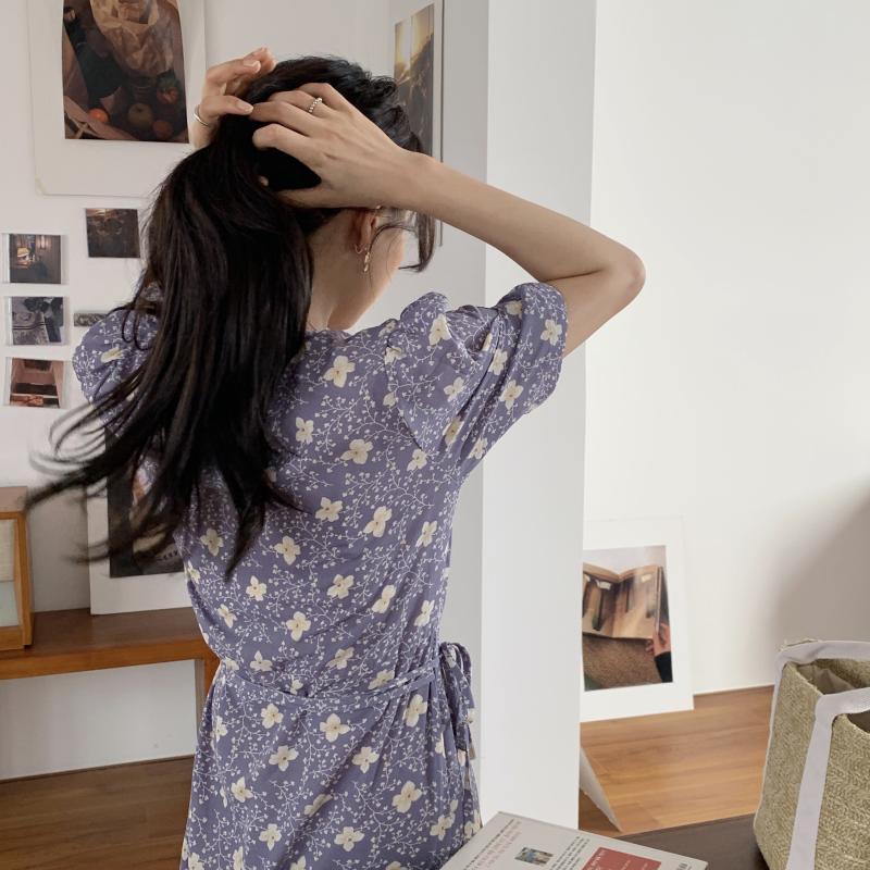 韓国 ファッション ワンピース 夏 春 秋 カジュアル PTXI526  くすみカラー ゆったり Aライン リラクシー オルチャン シンプル 定番 セレカジの写真8枚目