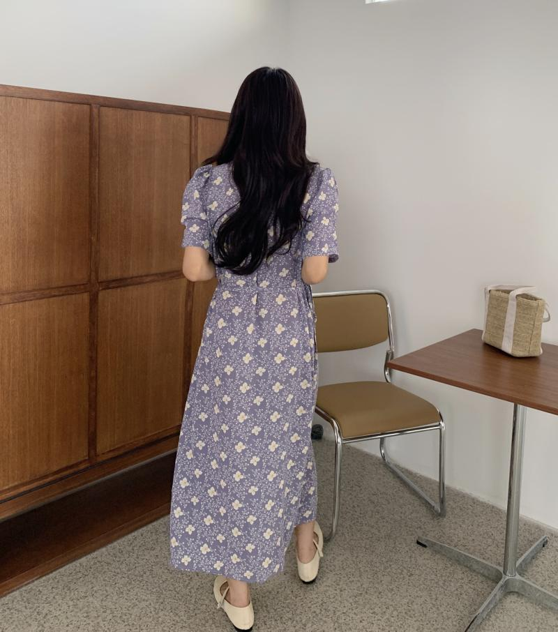 韓国 ファッション ワンピース 夏 春 秋 カジュアル PTXI526  くすみカラー ゆったり Aライン リラクシー オルチャン シンプル 定番 セレカジの写真11枚目