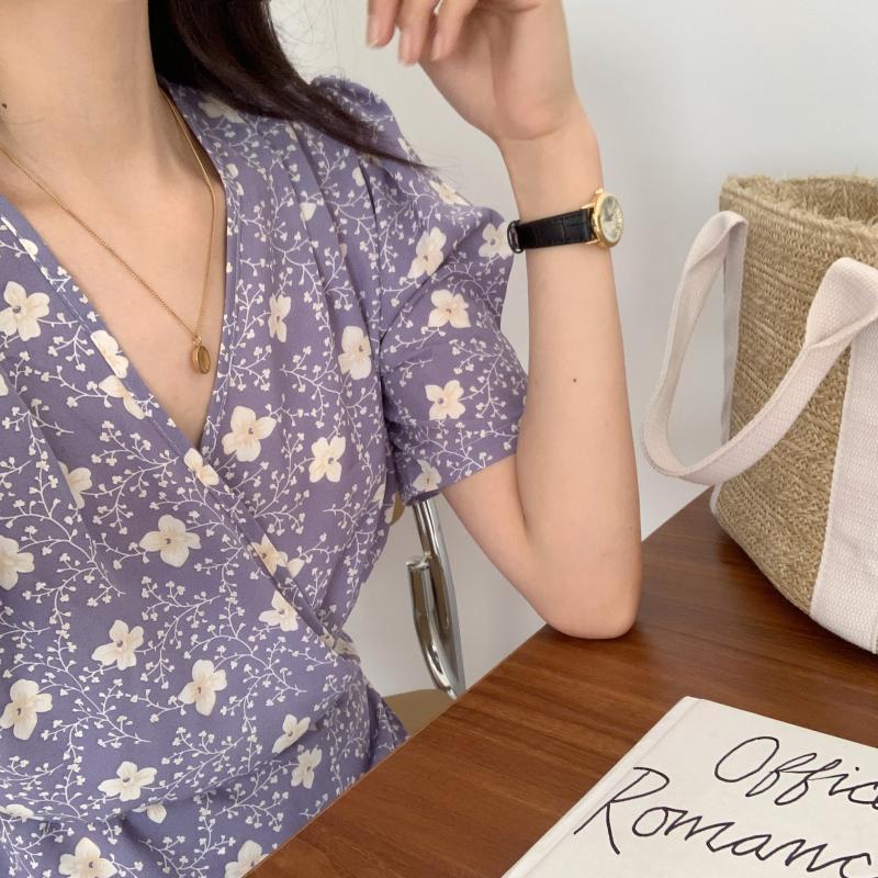 韓国 ファッション ワンピース 夏 春 秋 カジュアル PTXI526  くすみカラー ゆったり Aライン リラクシー オルチャン シンプル 定番 セレカジの写真12枚目