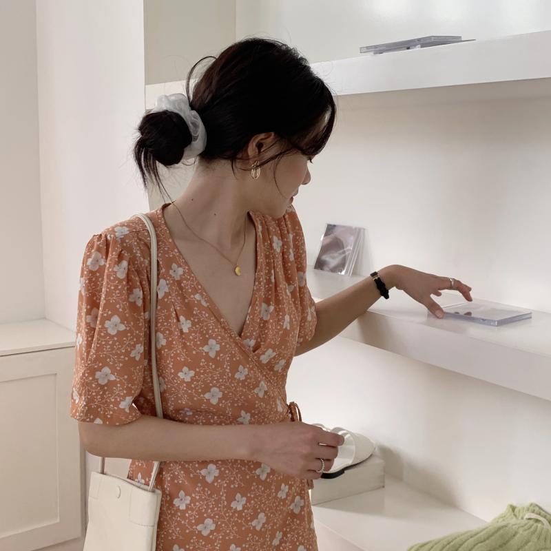 韓国 ファッション ワンピース 夏 春 秋 カジュアル PTXI526  くすみカラー ゆったり Aライン リラクシー オルチャン シンプル 定番 セレカジの写真13枚目