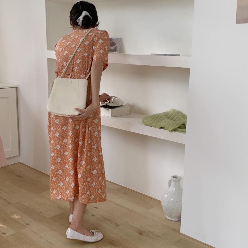 韓国 ファッション ワンピース 夏 春 秋 カジュアル PTXI526  くすみカラー ゆったり Aライン リラクシー オルチャン シンプル 定番 セレカジの写真14枚目