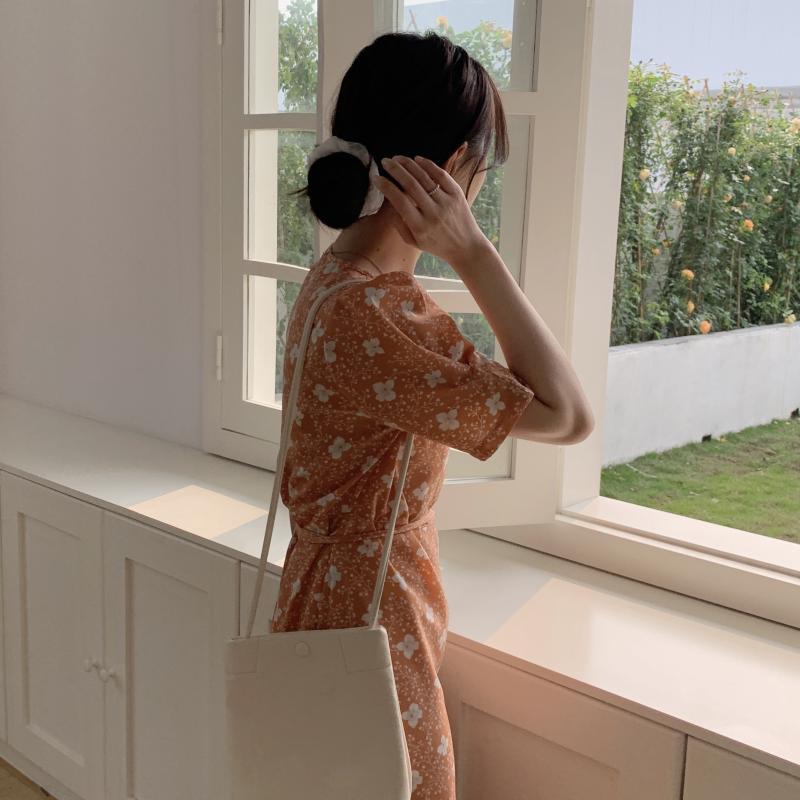 韓国 ファッション ワンピース 夏 春 秋 カジュアル PTXI526  くすみカラー ゆったり Aライン リラクシー オルチャン シンプル 定番 セレカジの写真15枚目