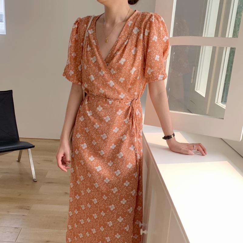 韓国 ファッション ワンピース 夏 春 秋 カジュアル PTXI526  くすみカラー ゆったり Aライン リラクシー オルチャン シンプル 定番 セレカジの写真16枚目