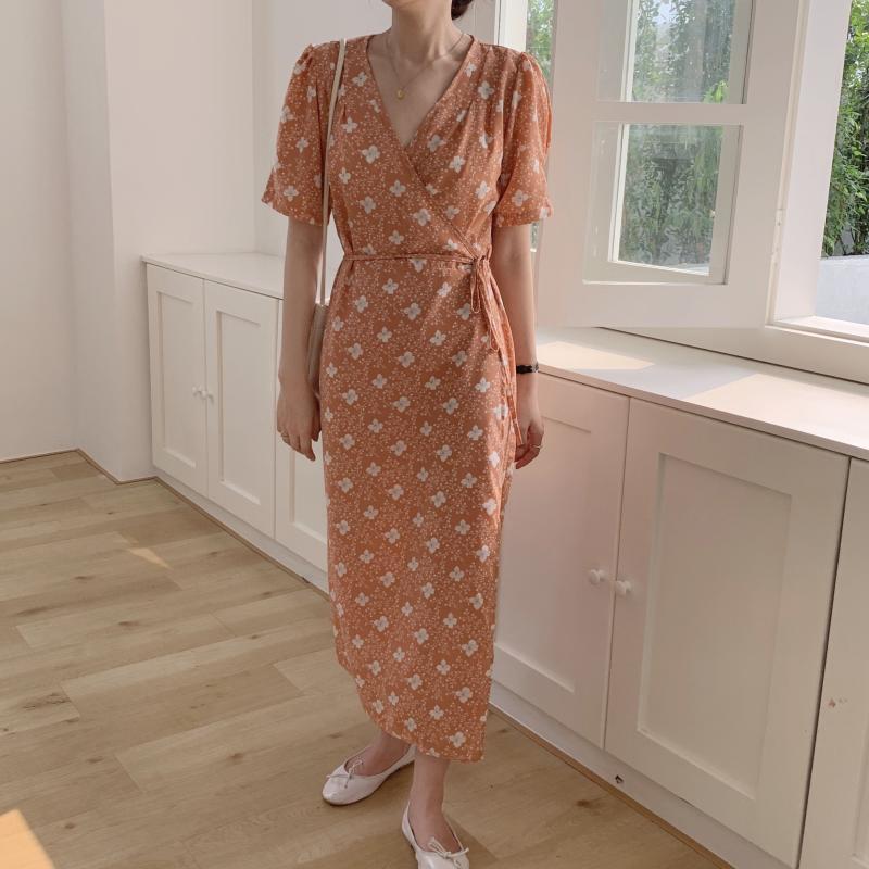 韓国 ファッション ワンピース 夏 春 秋 カジュアル PTXI526  くすみカラー ゆったり Aライン リラクシー オルチャン シンプル 定番 セレカジの写真17枚目