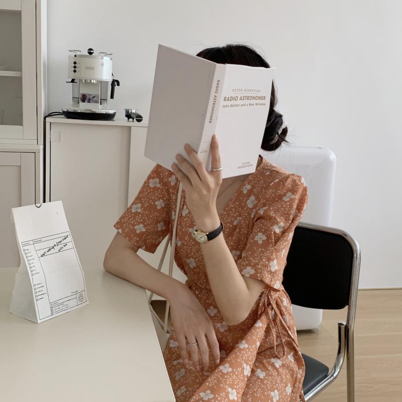 韓国 ファッション ワンピース 夏 春 秋 カジュアル PTXI526  くすみカラー ゆったり Aライン リラクシー オルチャン シンプル 定番 セレカジの写真18枚目
