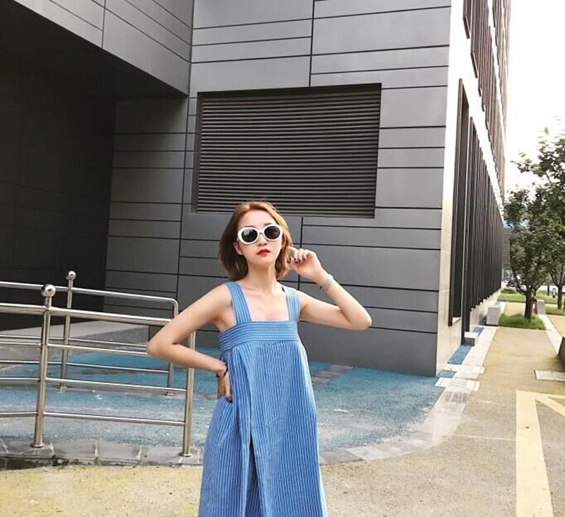 韓国 ファッション オールインワン オーバーオール 春 夏 秋 カジュアル PTXI665  タック ワイドパンツ アシメ チューブワンピ風 オルチャン シンプル 定番 セレカジの写真5枚目