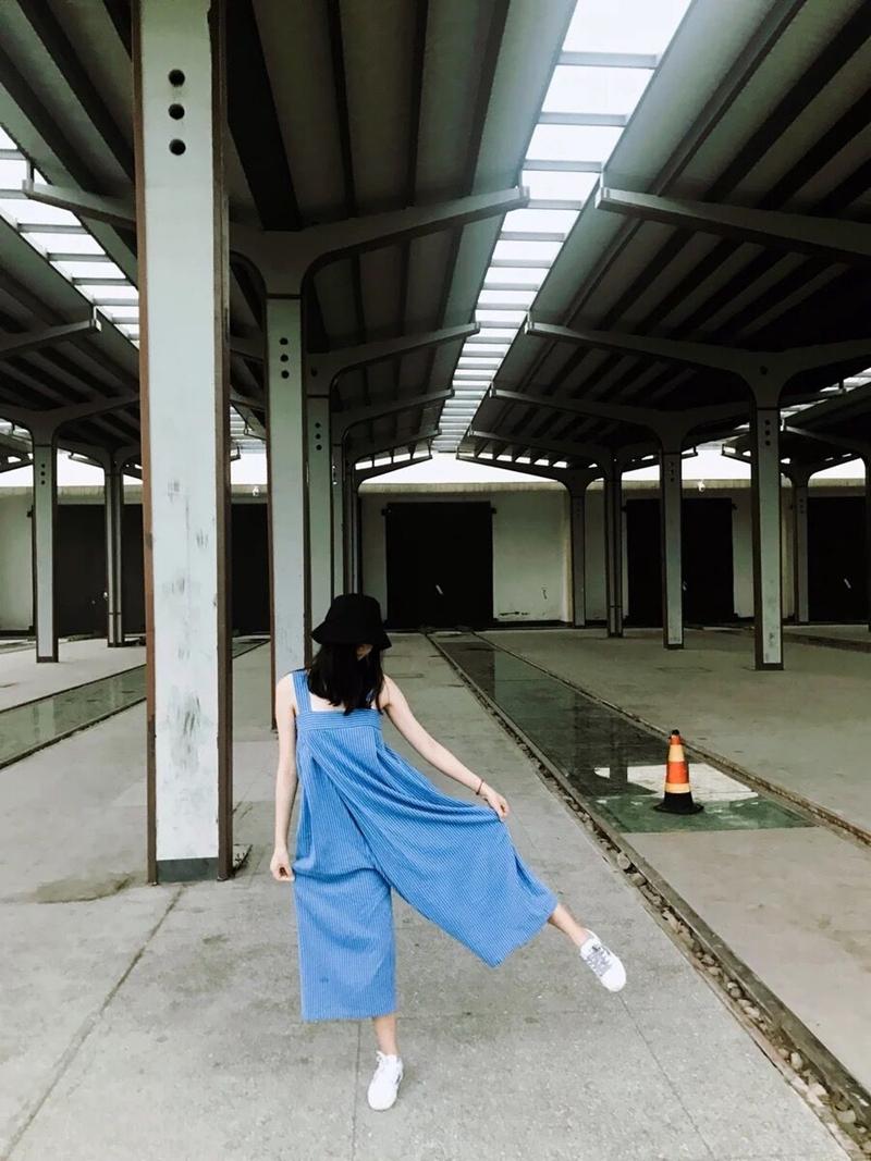 韓国 ファッション オールインワン オーバーオール 春 夏 秋 カジュアル PTXI665  タック ワイドパンツ アシメ チューブワンピ風 オルチャン シンプル 定番 セレカジの写真14枚目
