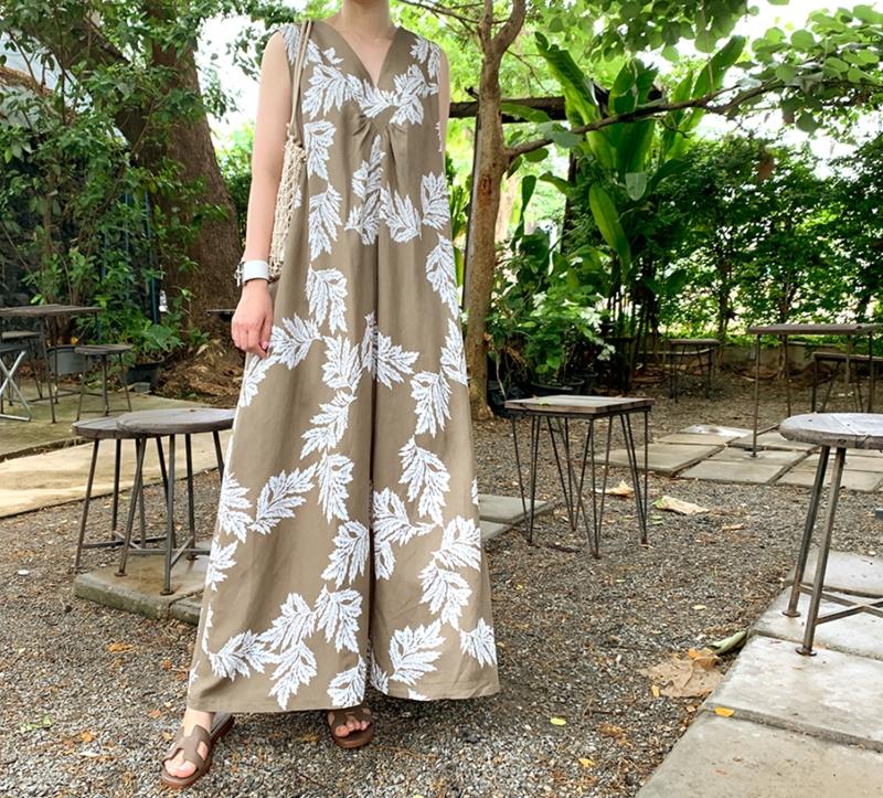 韓国 ファッション ワンピース 夏 春 カジュアル PTXI724  ゆったり Aライン マキシ丈 リゾートドレス オルチャン シンプル 定番 セレカジの写真14枚目